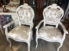Pearl Rococo Dining Chairs