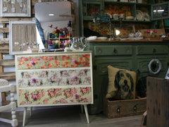 Decoupaged Dressing Table