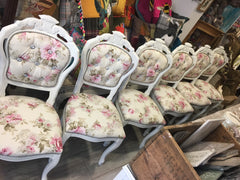 Floral Shabby Rococo Dining Chairs