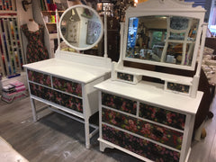 Floral Decoupage Dressing Table