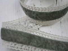 Crochet and velvet ribbon available at Elliemagpie.