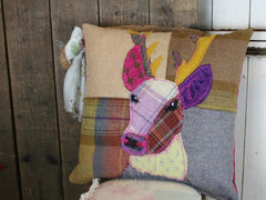 Bright Stag Patchwork Cushion