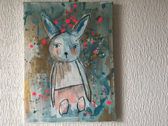 'Bunny' Original Acrylic on Canvas Painting