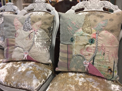 Shabby Chic Unicorn Patchwork Cushion