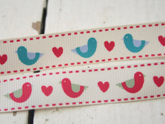Bird print ribbon. From Berties Bows. Available at Elliemagpie,
