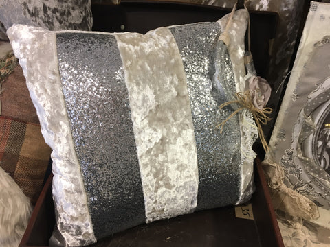 Premium Glitter Stripe Cushion