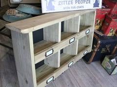 Wooden box unit.