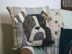 Boxer Dog Patchwork Cushion