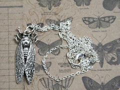 Silver Bug Necklace. Unique jewellery available at The Old Laundrette.
