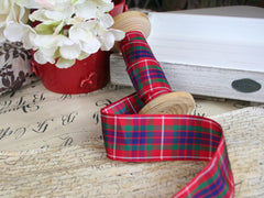 Red and Blue Tartan Ribbon. Available at Elliemagpie.
