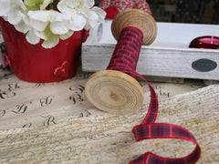 Thin Tartan ribbon available from Elliemagpie.