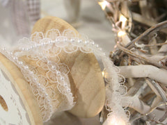 Pearl Lace Ribbon available from Elliemagpie.