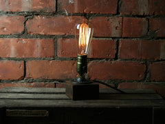 Edison Style Wooden Base Lamp