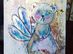 'Fairy Bear' Original Acrylic on Canvas Painting