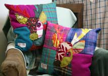 Bright Patchwork Cushions