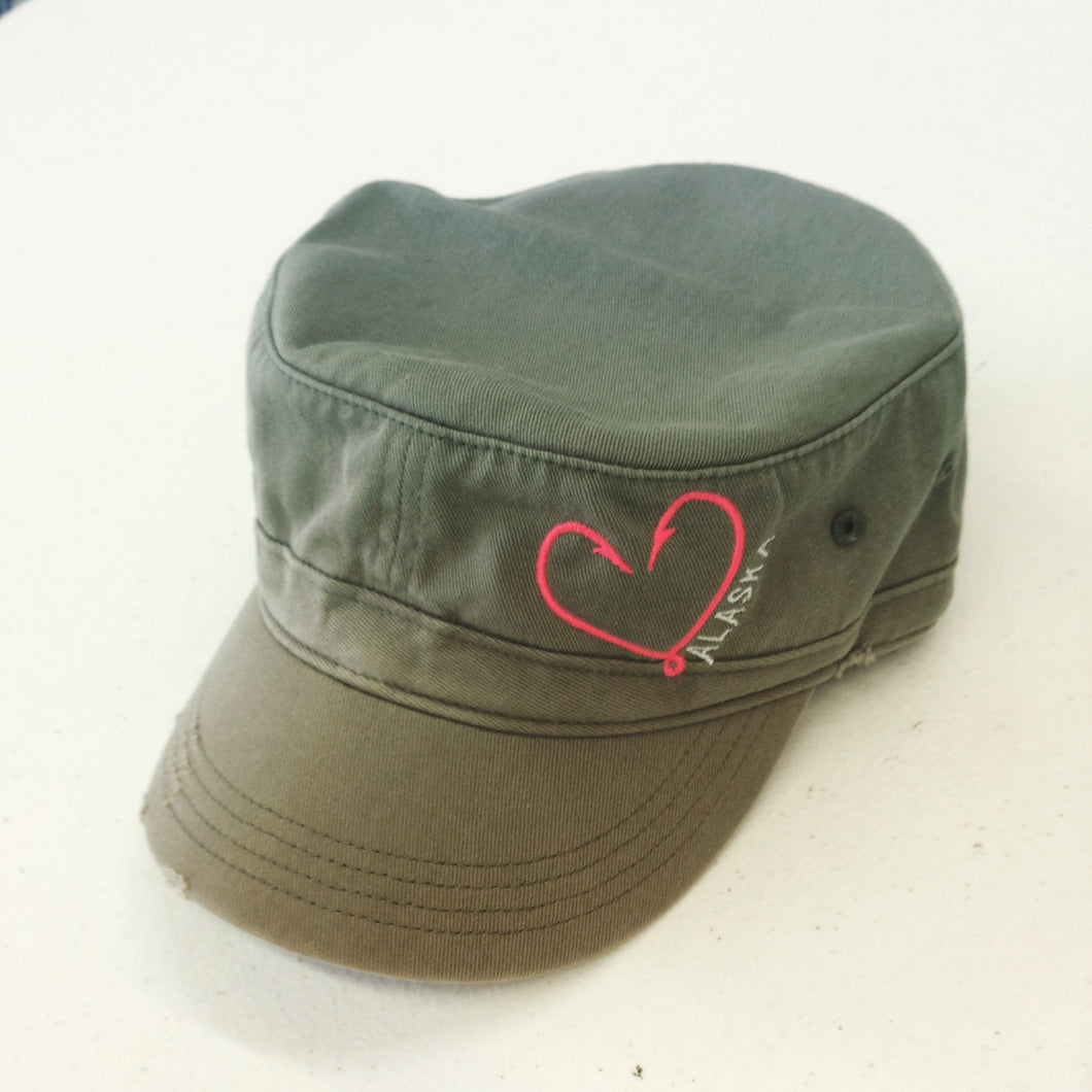 Heart Hook - Military Style - Hat