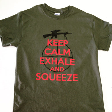Keep Calm Exhale And Squeeze - T-Shirt - Adult