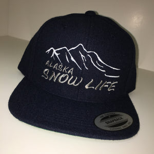 Alaska Snow Life - Flat Bill - Hat