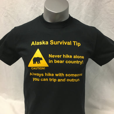 Alaska Survival Tip - Adult T-Shirt