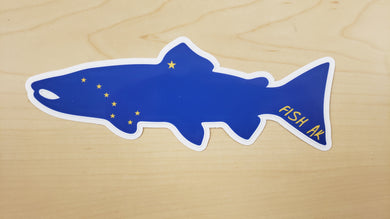 FISH AK - Big Dipper Salmon Sticker