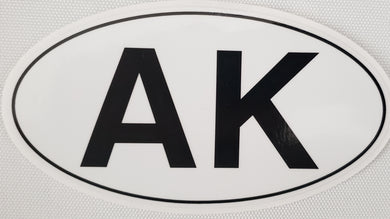 AK Oval - Sticker