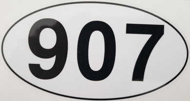 907 Oval - Sticker