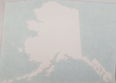 Alaska State Shape White - Sticker