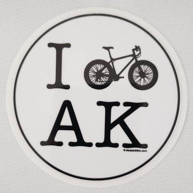 I Bike AK - Sticker