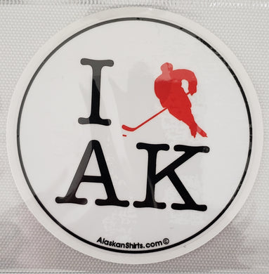 I Hockey AK - Sticker