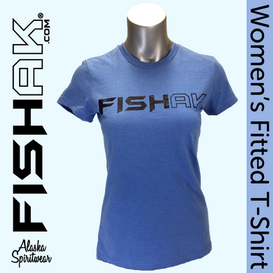 FISH AK -  Ladies Fitted T-Shirt