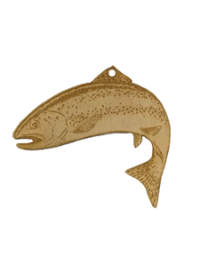 Rainbow Trout Ornament - Wood