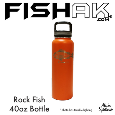 Rockfish - Fish AK - 40oz Stainless Water Bottle