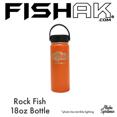 Rockfish - Fish AK - 18oz Stainless Water Bottle