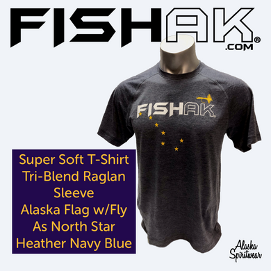 FISH AK Big Dipper with Fly - T-Shirt - TriBlend