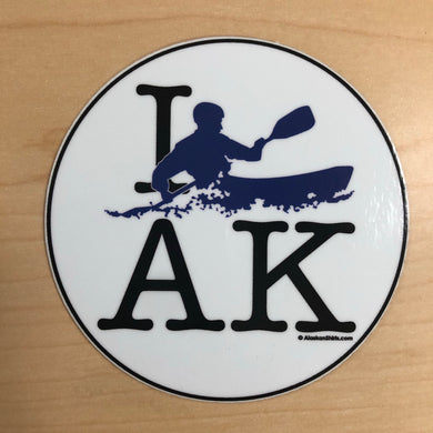 I Kayak AK - Sticker