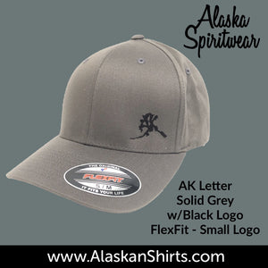 AK Letter (Small Logo) - Flex Fit - Solid Back- Hats