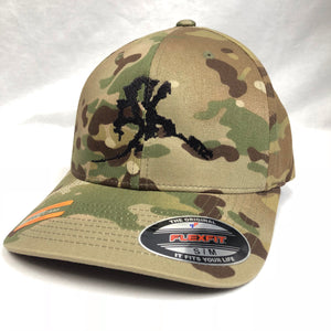 AK Letter (Big Logo) - Flex Fit - Solid Back- Hats