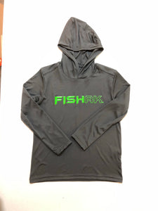 Fish AK - Performance Hooded Long Sleeve T-Shirt - Youth