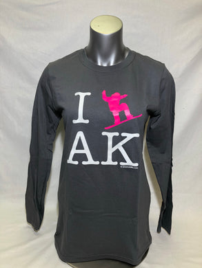 I Snowboard AK - Long Sleeve T-Shirt - Adult (CLEARANCE)