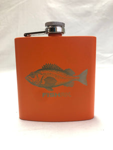 Fish AK - 6oz Stainless Flask - Rockfish