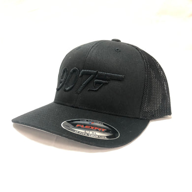 907 Gun 3D - Flex Fit Hat - Mesh Back
