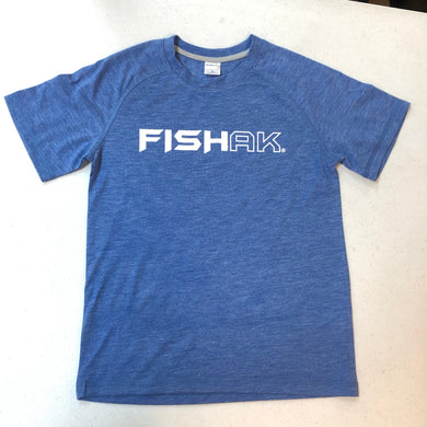 Fish AK - T-Shirt - Triblend - Youth