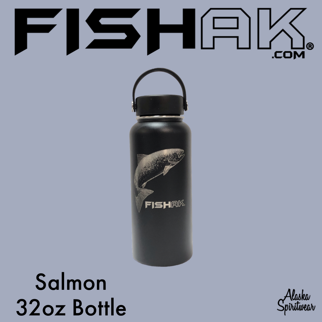 Salmon - Fish AK - 32oz Stainless Water Bottle