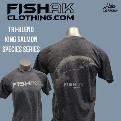 Fish AK - Species Collection - King Salmon - T-Shirt - TriBlend