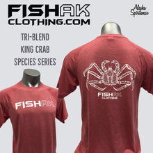 Load image into Gallery viewer, Fish AK - Species Collection - King Crab - T-Shirt - TriBlend