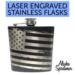 Grunge Flag - 6oz Flask
