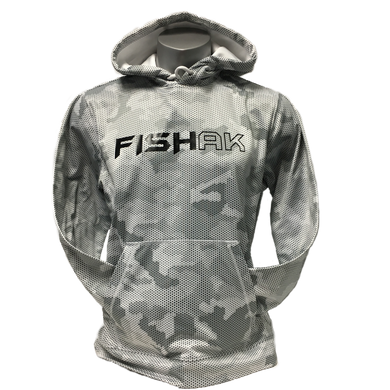 Fish AK - Hex Camo - Adult Performance Hoodie