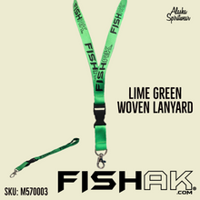 Load image into Gallery viewer, Fish AK - Woven Lanyard