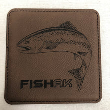 Load image into Gallery viewer, Fish AK - Rainbow Trout - Individual Coaster - Leather