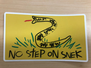 No Step On Snek - Sticker